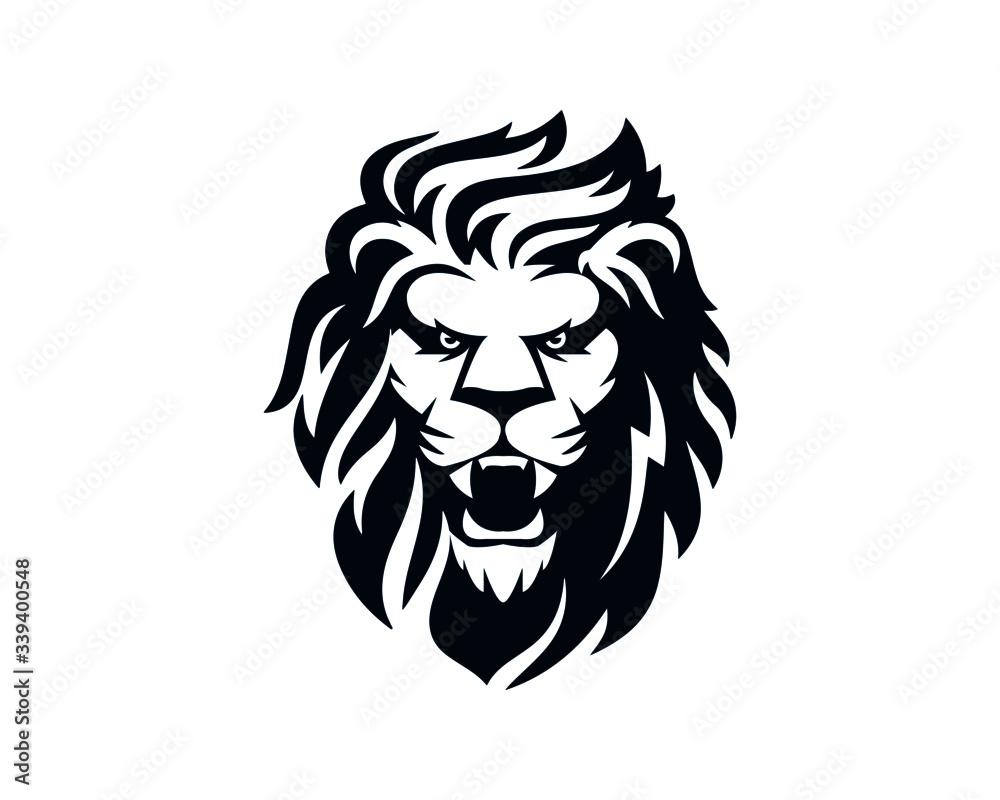 Fototapeta lion logo, classic, club, elegant, emblem, gold, golden, head, jungle, king, kingdom, leo, lion, lion head, lion logo, logo, luxury, power, powerpoint, royal, sport, strength, st
