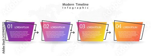 Fotografía Modern timeline infographic 4 options.