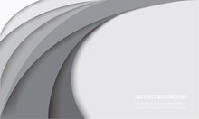White Curve Template Backgroun...