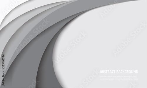 white curve template background vector illustration EPS10 Fototapeta