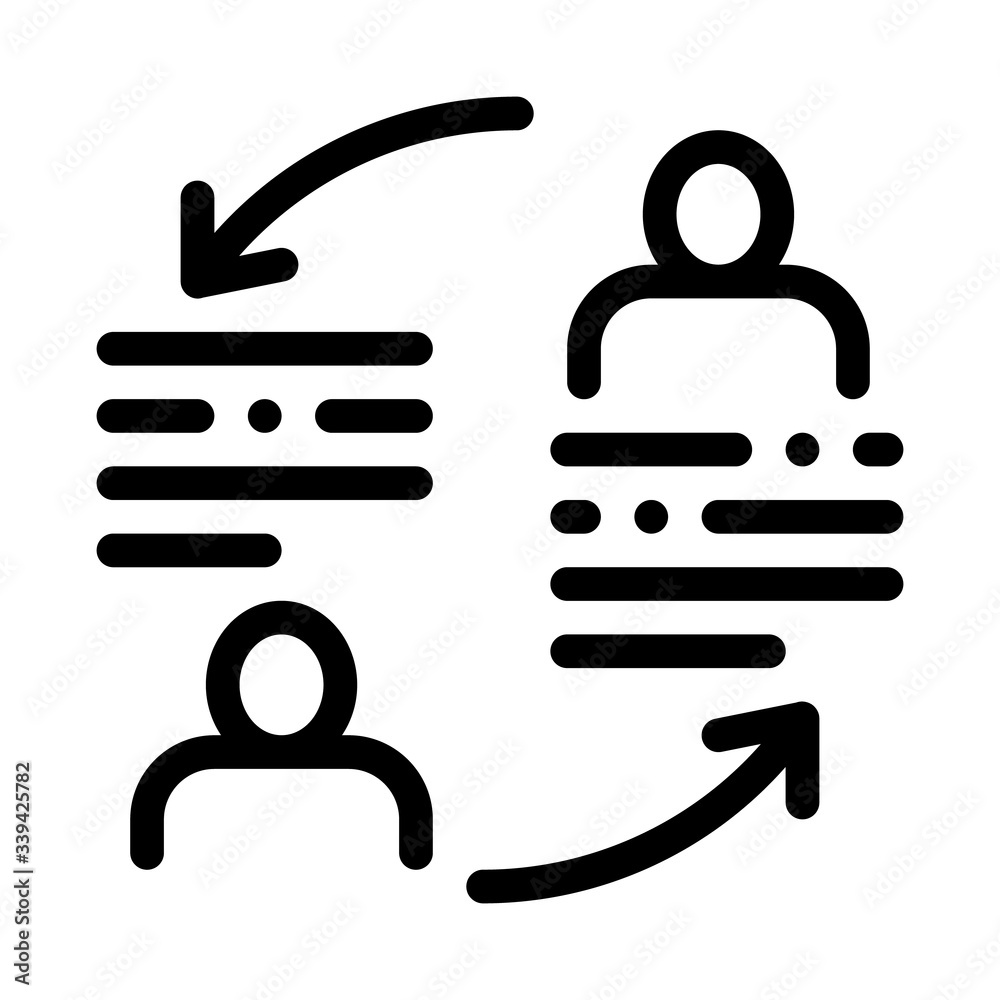 Fototapeta knowledge sharing icon vector. knowledge sharing sign. isolated contour symbol illustration