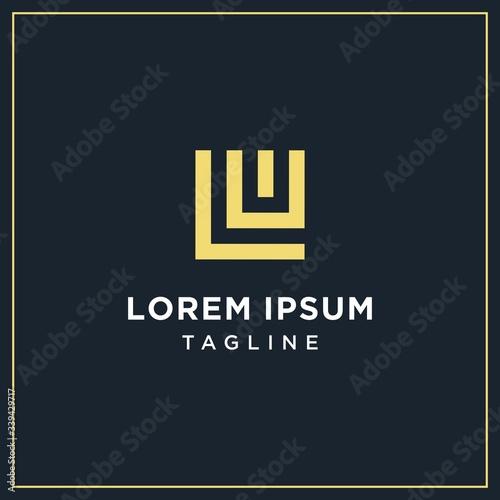 lw, or lu square logo Fototapete