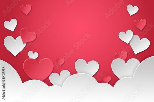 Día del amor y la amistad fondo 14 de febrero Canvas Print
