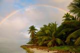 Fototapeta Tęcza - Tęcza na rajskiej plaży w Saona, Dominikana