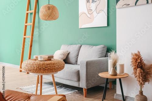 Obraz Interior of beautiful modern living room - fototapety do salonu