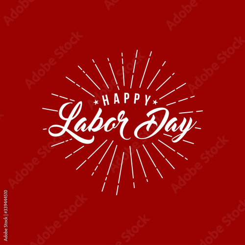 Fotografie, Tablou Labor day card design vector illustration.