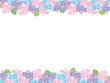 綺麗な紫陽花のフレーム メッセージカード