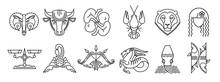 Set Of Zodiac Signs Aries Taur...