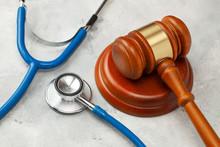 Judge Gavel And Stethoscope. T...