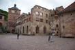 Street By Old Buildings