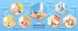 Isometric Home Renovation Infographics