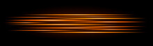 Glowing Yellow Stripes On A Black Background