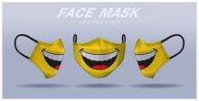 Face Mask Design Template, Dus...