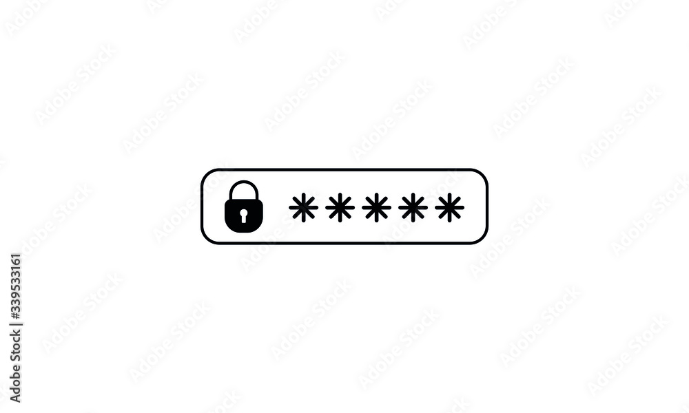 Fototapeta password protection icon, password vector icon