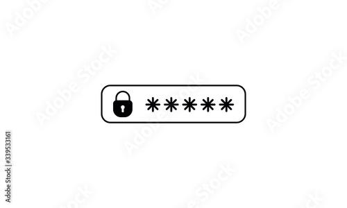 Fotografía password protection icon, password vector icon