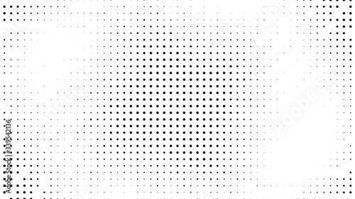 Halftone Hexagon Fade Effect. Halftone Hex Simple Pattern. Pop-Art Halftone Gradient. Vector Illustration. Dynamic Retro Background