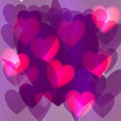 Valentine's Day. Colorful,multicolored hearts. Vector illustration. Abstract. Love