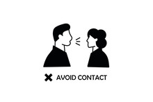 Avoid Contact Icon. Simple Ill...