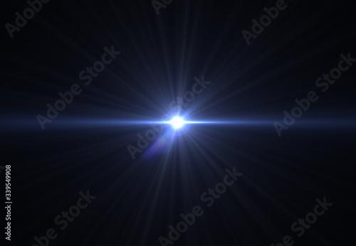 Fototapeta Modern lens flare red background streak rays (super high resolution) obraz na płótnie