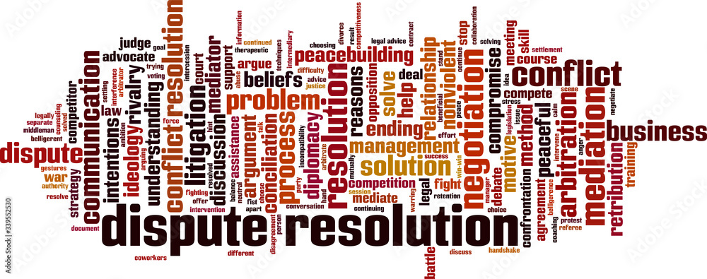 Fototapeta Dispute resolution word cloud