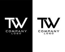 TW, WT Letter, Initial Company Logo Vector