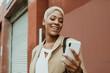 Stylish businesswoman using a smartphone