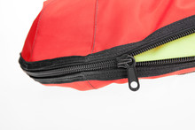 Zipper Close Up Of Lifevest. Life Jacket. Safety. Shipping.