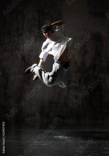 Obraz na plátne young modern hip hop male dancer