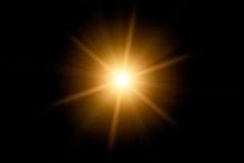 Optical Lens Flare On Black Ba...