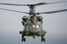 RAF Chinook Helicopter On A Tr...
