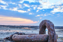 Image Of Rusty Metal Ring On P...