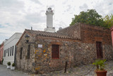 Lighthouse of Colonia del Sacramento in historical center of Colonia del Sacramento. UNESCO WHS, March 2020.