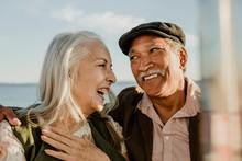 Happy Senior Couple On A Ferri...