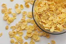 Corn Flakes In A Bowl
