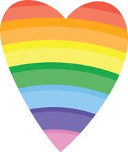 Rainbow Heart On White Backgro...