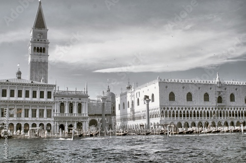 Tela Grand Canal Against Doges Palace And San Marco Campanile
