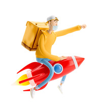 Express Delivery Concept. 3d I...