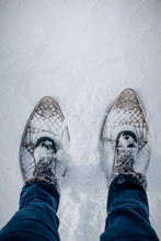 Flat Lay Snow Shoes