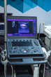 Modern ultrasound machines in clinic laboratory of sonography diagnostics