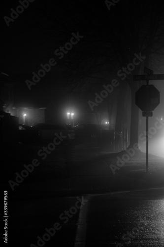 foggy street Fototapete