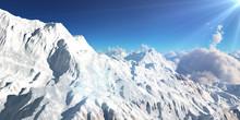 Mountain Panorama Over The Clo...