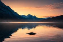 Sunrise On Canadian Rockies Wi...