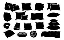 Black Glyph Pillow Flat Set. M...