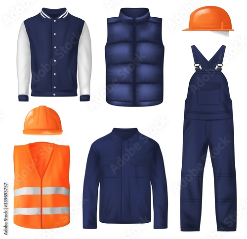 Cuadros en Lienzo Work wear and sports clothes for men