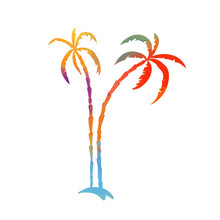 Multi-colored Palm Tree. Hello...