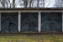 Soviet Garage Complex In A Small Rural Village