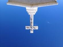 Jesus Christ On Cross Against Sky