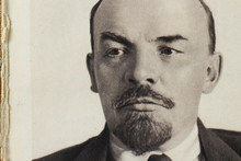April 12, 2020, Moscow, Russia, An Old Photograph Of Vladimir Ilyich Lenin In A Book Of The 30s