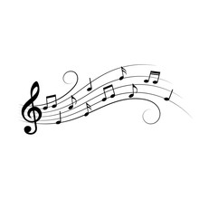 Music Notes. Music Notes On Wa...