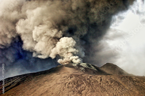 Tablou Canvas Smoke Erupting From Mt Etna